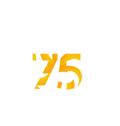 75 years anniversary celebration number template vector
