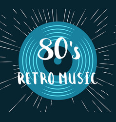80s retro music vinyl record vector
