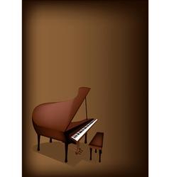 A Retro Grand Piano on Dark Brown Background vector