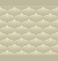 Abstract line seamless pattern in oriental style vector