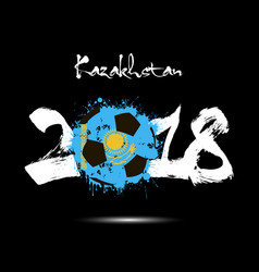 Abstract number 2018 and soccer ball blot vector