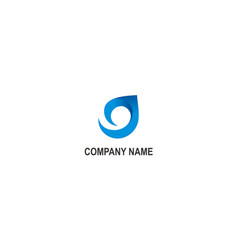 abstract unusual curl company logo vector image