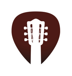 Acoustic guitar music instrument vector
