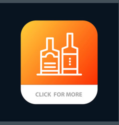 alcohol beverage bottle bottles mobile app button vector image