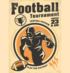 american football promo poster design vector image