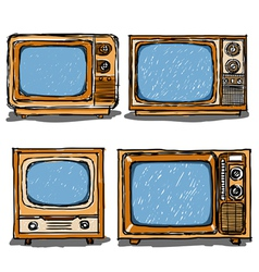 Ancient television vector image