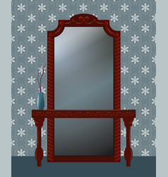 Antique mirror vector