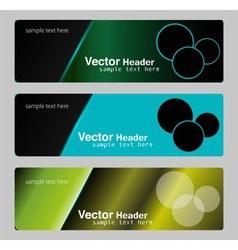 Banners headers vector