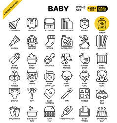 Baoutline icons vector