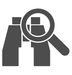 Binoculars find tools icon vector