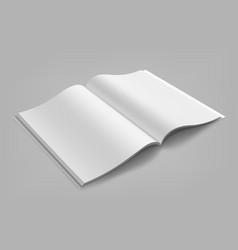 blank magazine album or book mockup mock up vector image