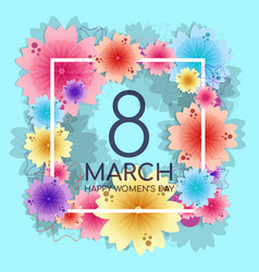 bright floral background for 8 march mothers day vector image