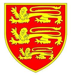 British three lions shield vector