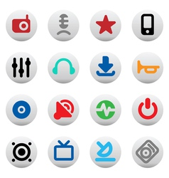 Buttons for music and sound vector image