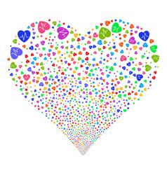 cardiology fireworks heart vector image