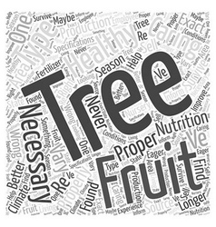 Caring Properly for your Fruit Tree Word Cloud vector