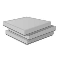carton pizza box icon cartoon style vector image
