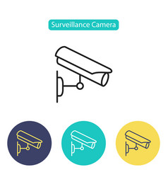cctv camera icon video surveillance vector image