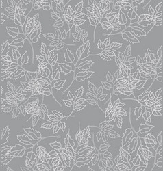 Chaotic leaves on a gray background vector