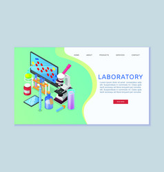 chemistry laboratory web banner vector image