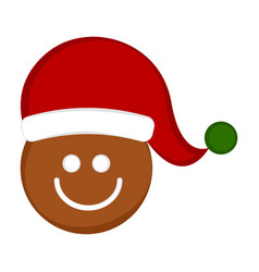 christmas cute gingerbread cookie avatar vector image