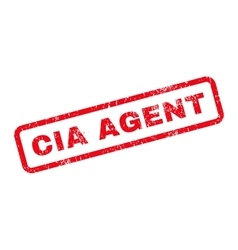 CIA Agent Text Rubber Stamp vector