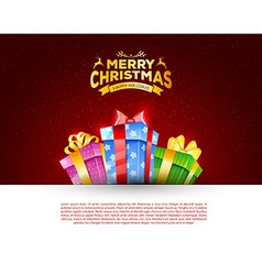 Colorful gift box with bows vector image