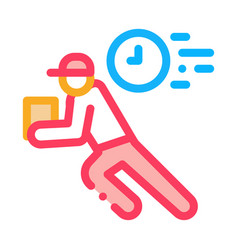 delivery express courier icon outline vector image