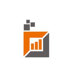 digital business logo design template vector image
