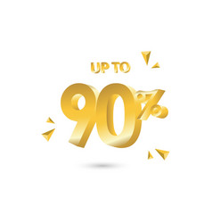 Discount up to 90 template design vector