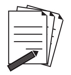 Document icon on white background flat style vector