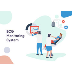 Ecg monitoring system vector
