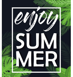 Enjoy summer poster vector
