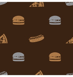 Fast food brown pattern seamless eps10 vector