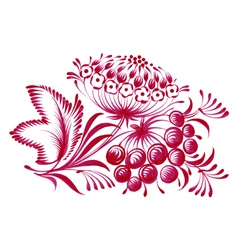 Floral decorative ornament branch with berries vector