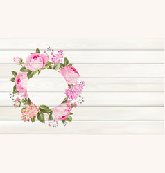 Flower background for your design rose and leaves vector