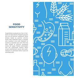 food sensitivity banner template in line style vector image