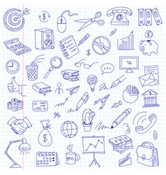 freehand drawing office on a sheet vector image