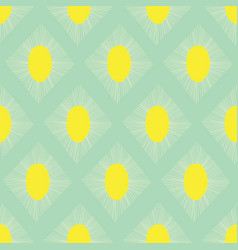 Geometric seamless pattern teal green lime vector