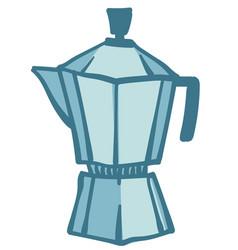 geyser coffee machine equipment for making vector image