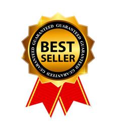 Gold Label Best Seller vector