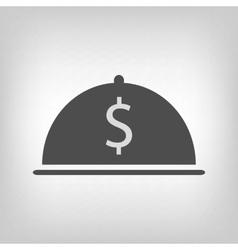 Grey restaurant business icon vector