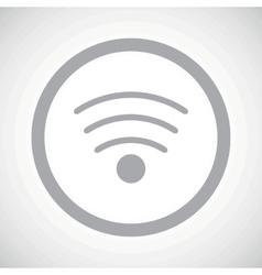 Grey Wi-Fi sign icon vector