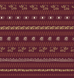 Hand drawn african motifs in a warm earthy color vector