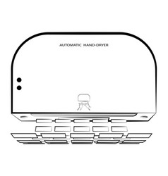 Icon automatic hand dryer hygienic procedures vector