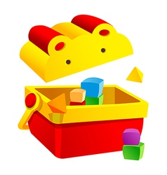 Icon block toy box vector