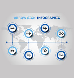 infographic design with arrow sign icons vector image