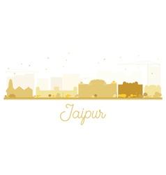 Jaipur City skyline golden silhouette vector image