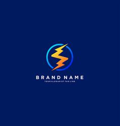 Letter s flash electrical logo design vector
