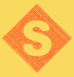 Letter s sign design template element red vector